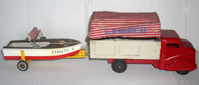 Structo Camper Truck With Boat 2