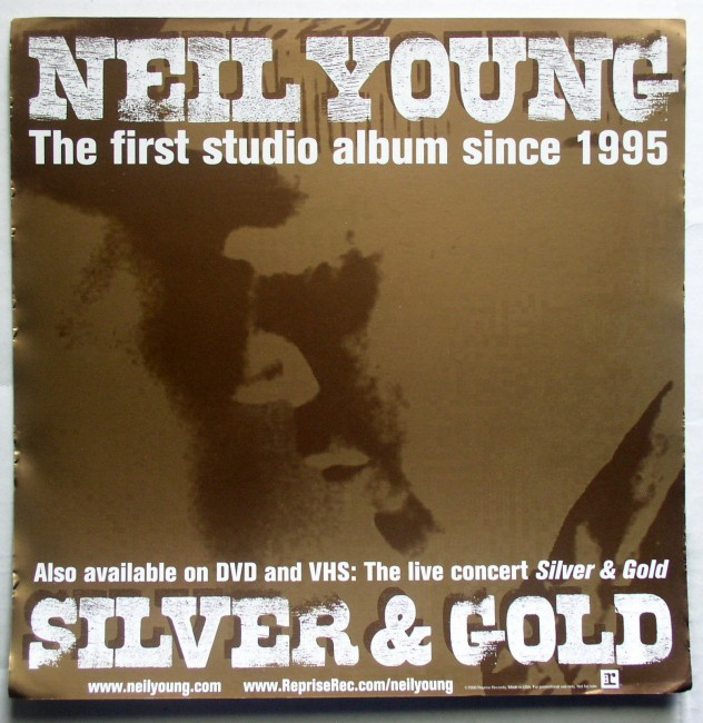 Promo Flat  Neil Young Silver And Gold 1