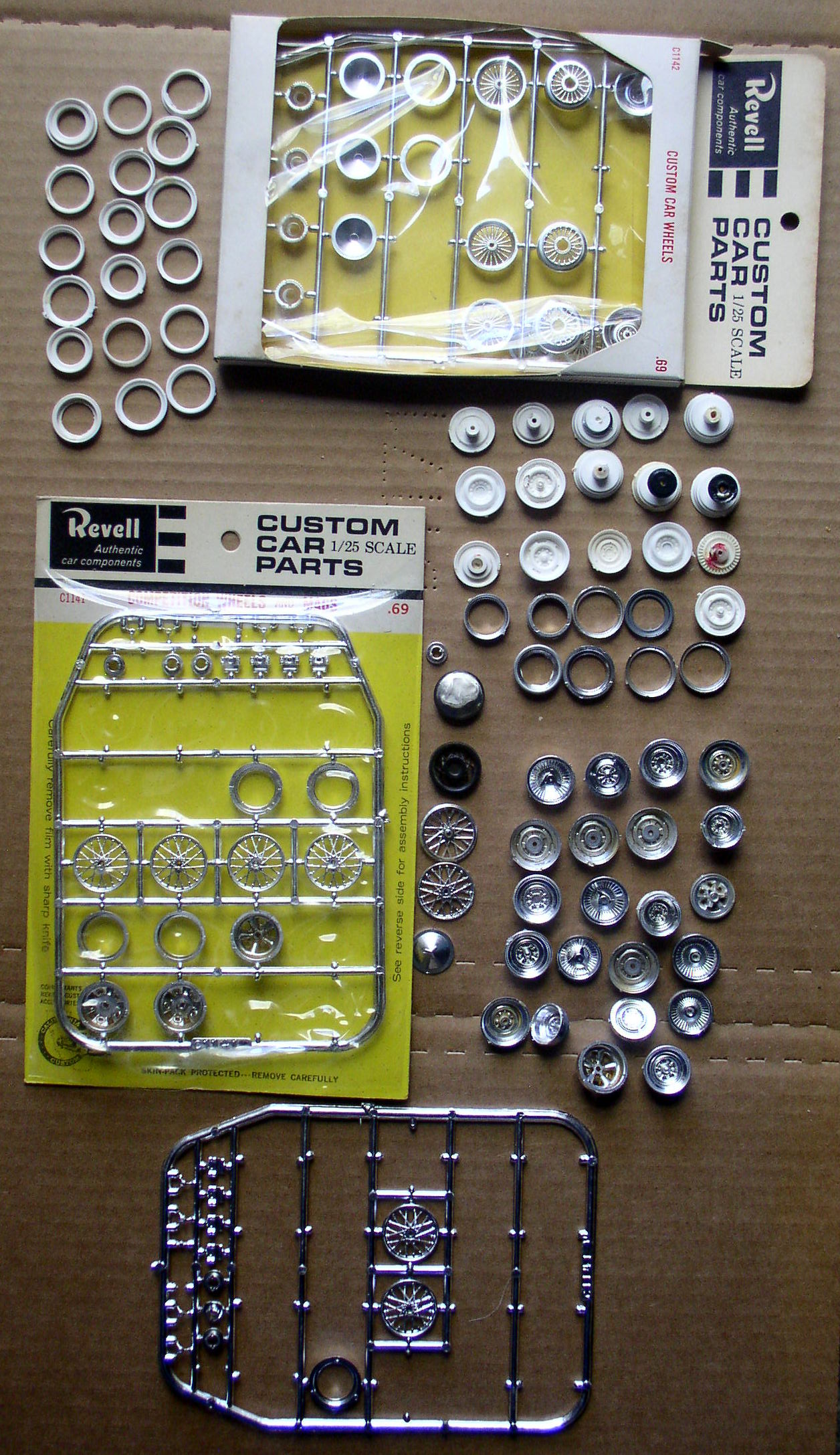 Model Car Custom Wheels And Parts 1 25 Scale Revell And