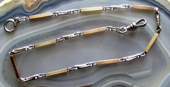 Art Deco Two Tone Chain 1
