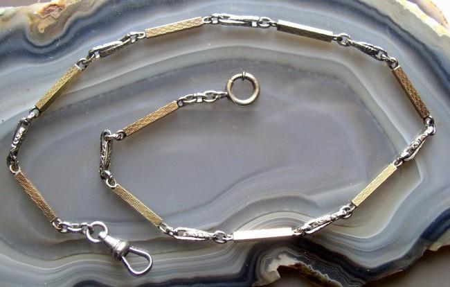 Art Deco Two Tone Chain 2