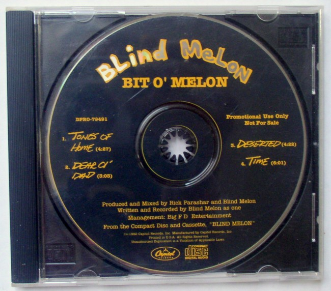 Blind Melon Promo CD Bit O' Melon