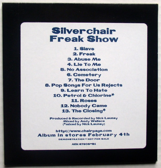 Silverchair Freak Show Advance CD 2