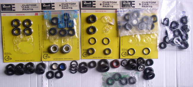 Assorted 1/25 Scale Rubber Tires
