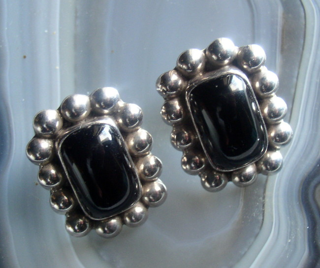 Onyx Sterling Earrings 1