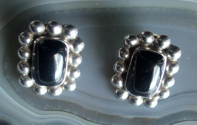 Onyx Sterling Earrings 2