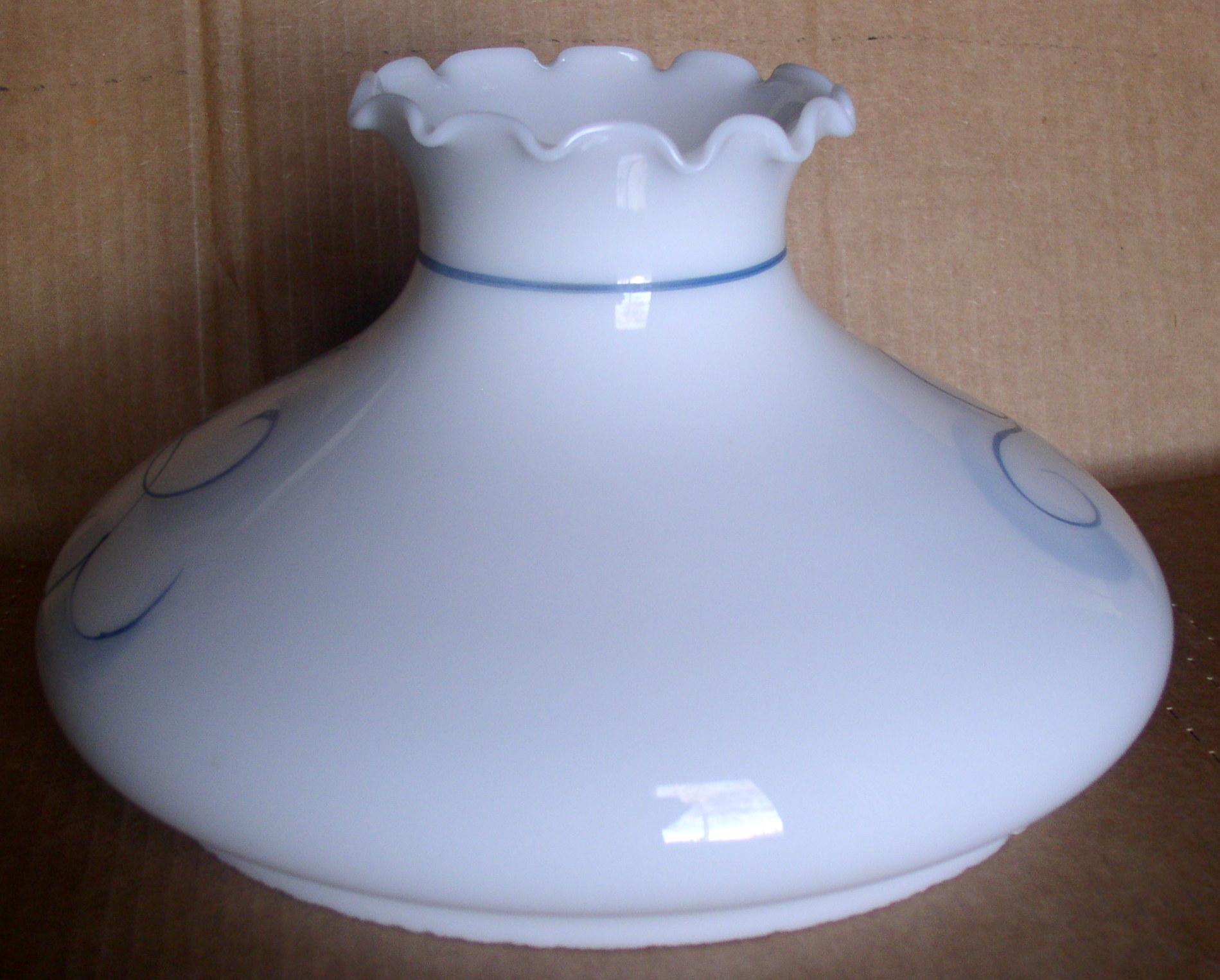 10 White Opal Glass Floral Decorated Lamp Shade Aladdin