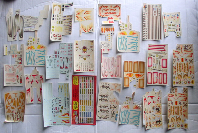 25 Partial Sheets Decals 1