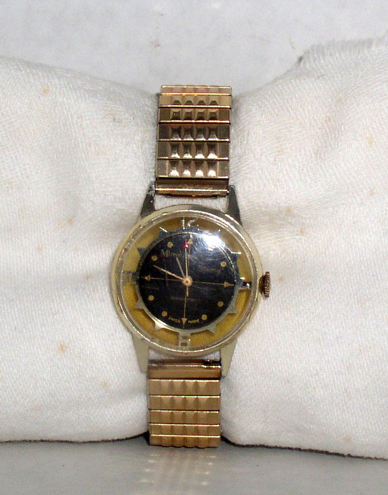 Vintage Mirror Matic 7 Jewels Swiss Made Watch By Saxony