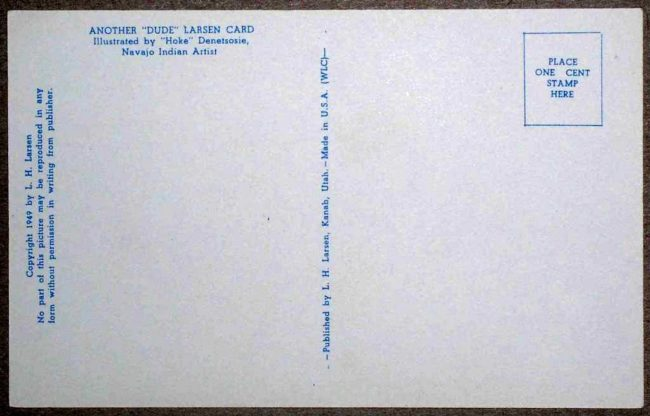 Dude Larson Postcard 2
