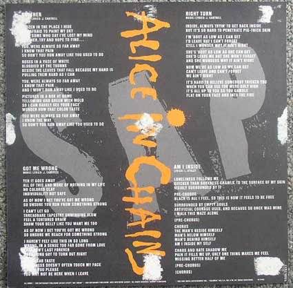 Alice In Chains SAP flat back