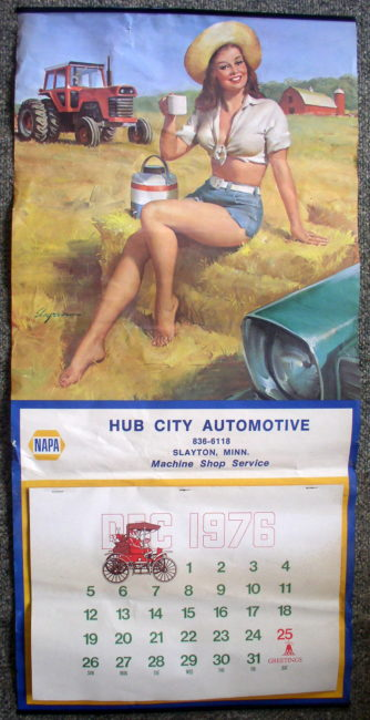 Napa Hub City Automotive Slayton Mn 1977 Calendar 1