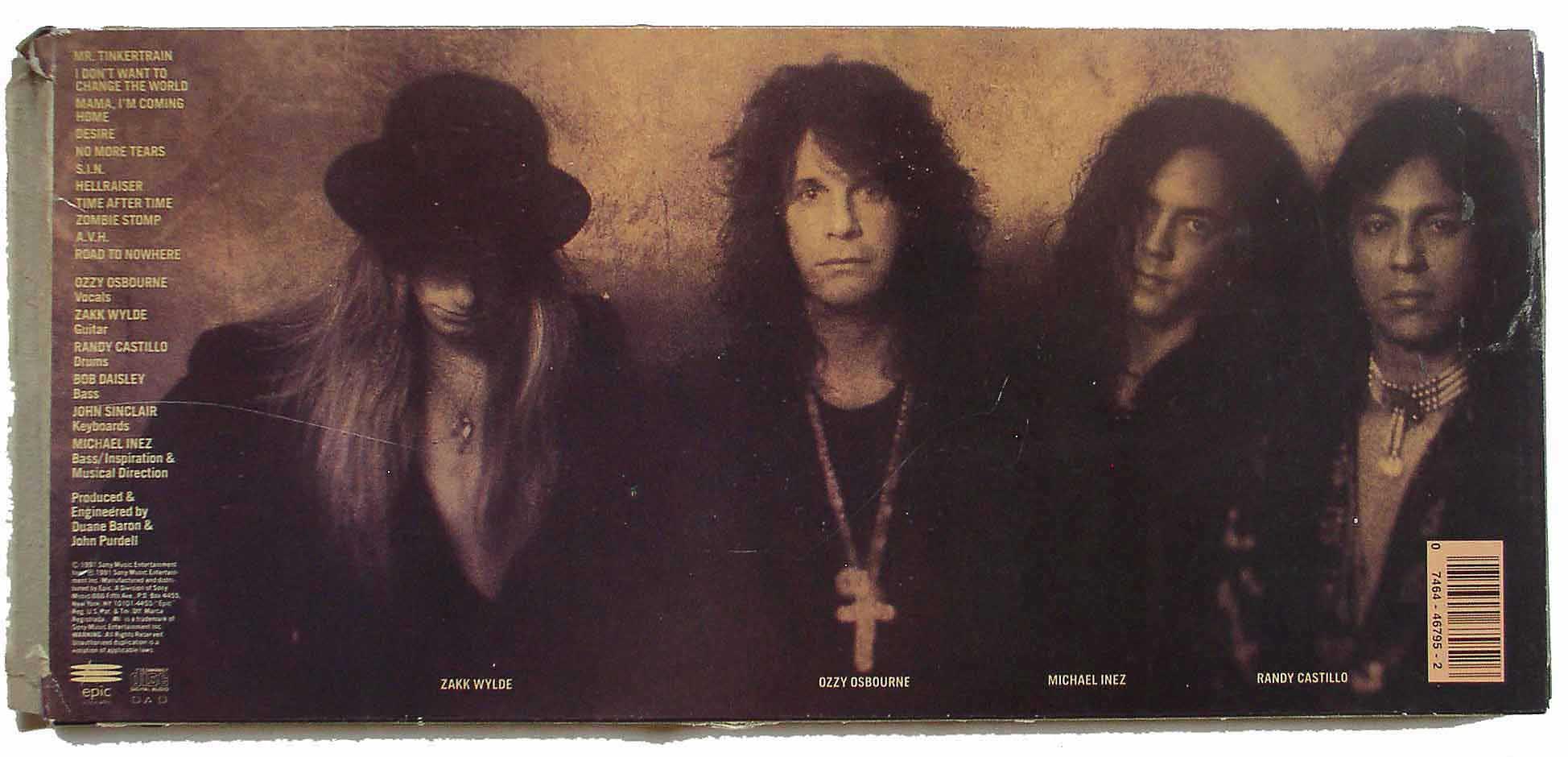 Ozzy Osbourne / No More Tears – Thingery Previews Postviews & Music