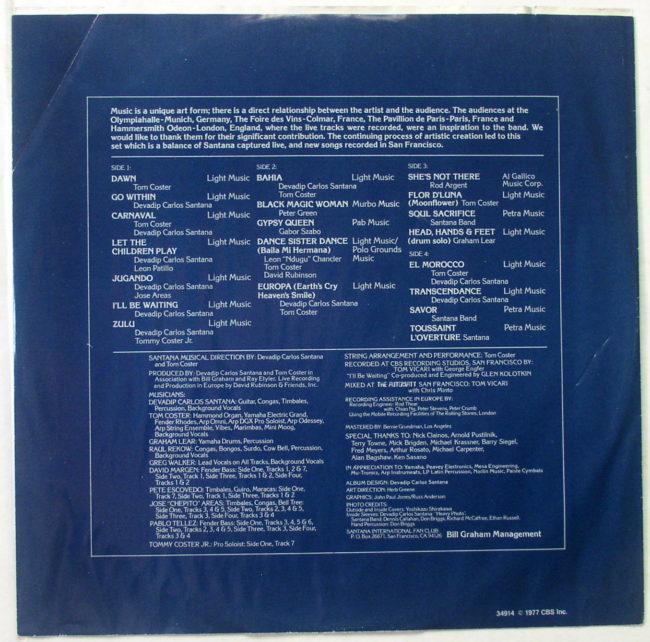 Santana Moonflower LP 6