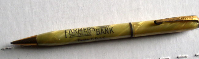 Farmers Bank Advertising Mechanical Pencil 3