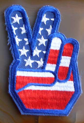 peace fingers patch