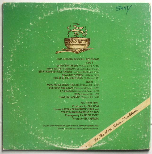ZZ Top Tres Hombres LP 2