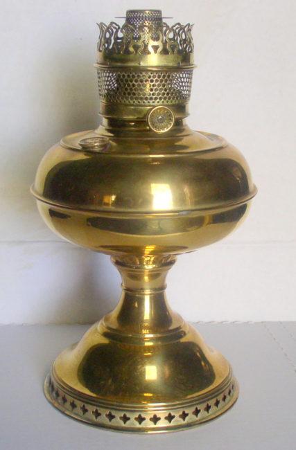 Antique B Amp H Perfection Kerosene Oil Brass Lamp 1904