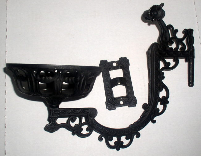 Wall Mount Oil Lamp Holders : Antique Cast Iron Wall Mount Kerosene Oil Lamp Bracket Holder, Complete Thingery Previews ...