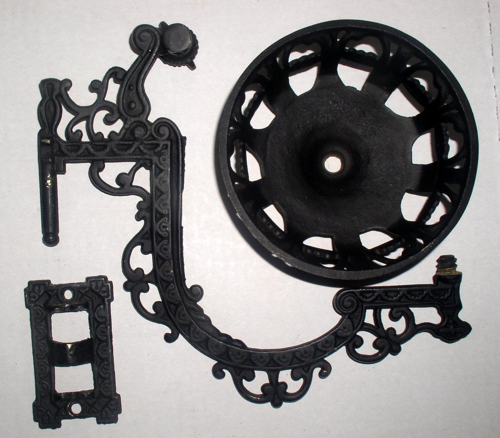 Antique Cast Iron Wall Mount Kerosene Oil Lamp Bracket Holder, Complete Thingery Previews ...