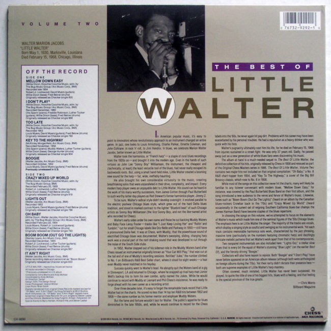 Best Of Little Walter Vol 2 2