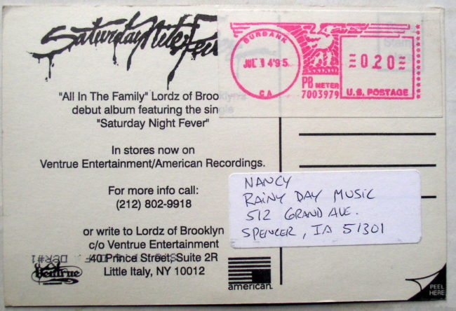 Lordz Of Brooklyn Postcard 2