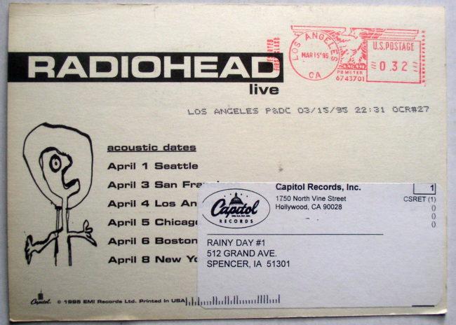 Radiohead Postcard 2