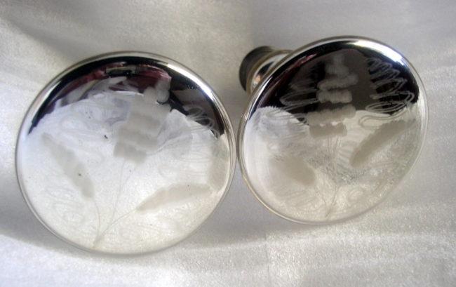 Mercury Glass Tiie Backs 1