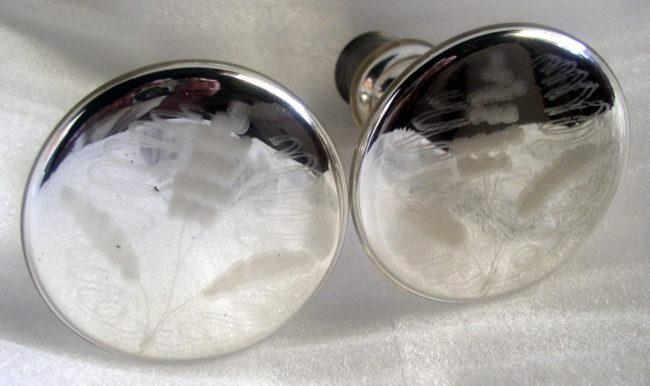 Mercury Glass Tiie Backs 2