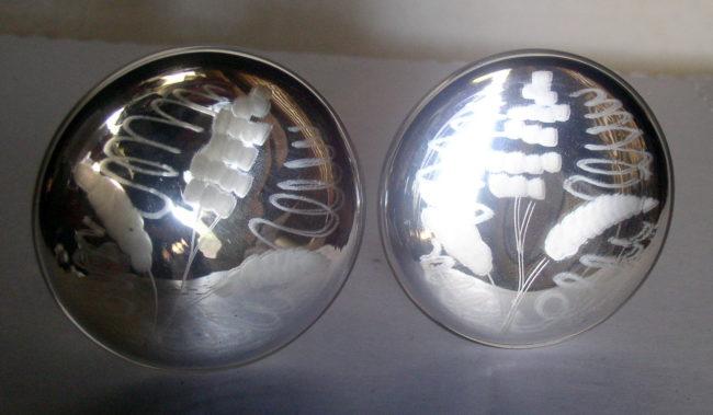 Mercury Glass Tiie Backs 3
