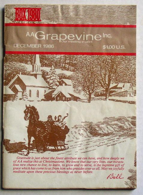 AA Grapevine December 1986 1