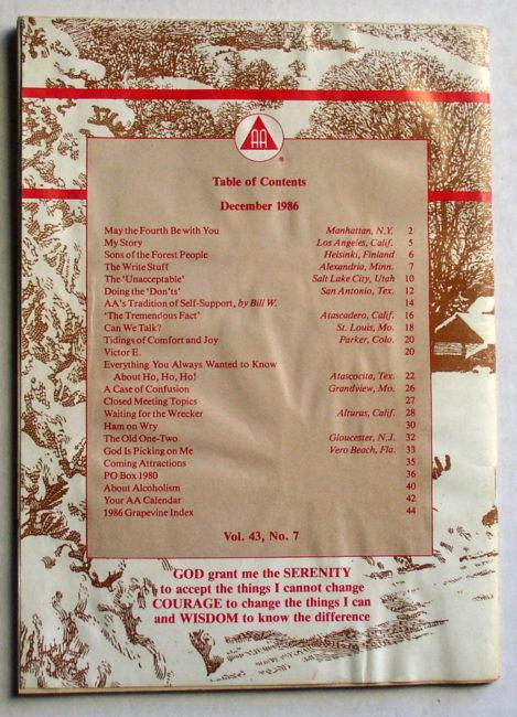 AA Grapevine December 1986 2