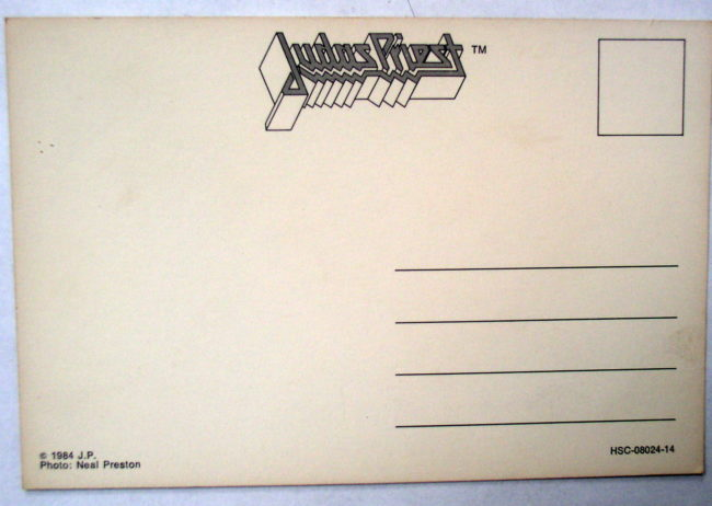 Judas Priest Concert Postcard 2