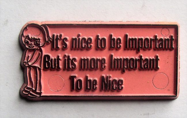 Magnet It's Nice To Be Important 1