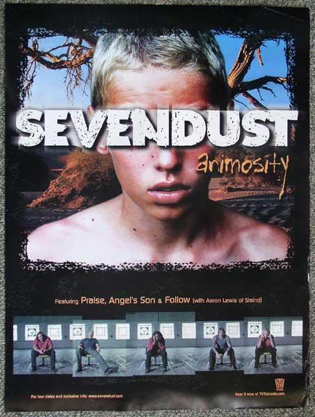 18 x 24 Promo Poster Sevendust / Animosity 2001 used