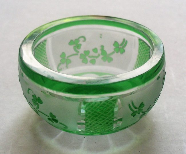 Green Crystal Dish 1