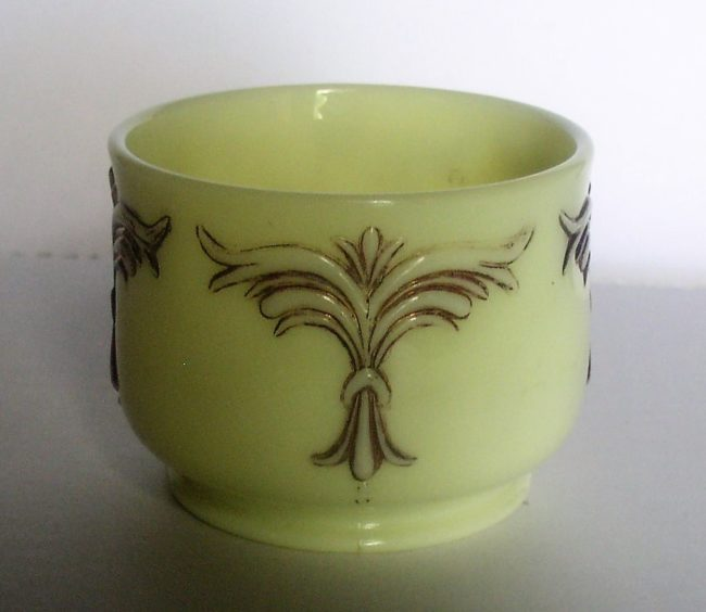 Custard Glass Jar 1