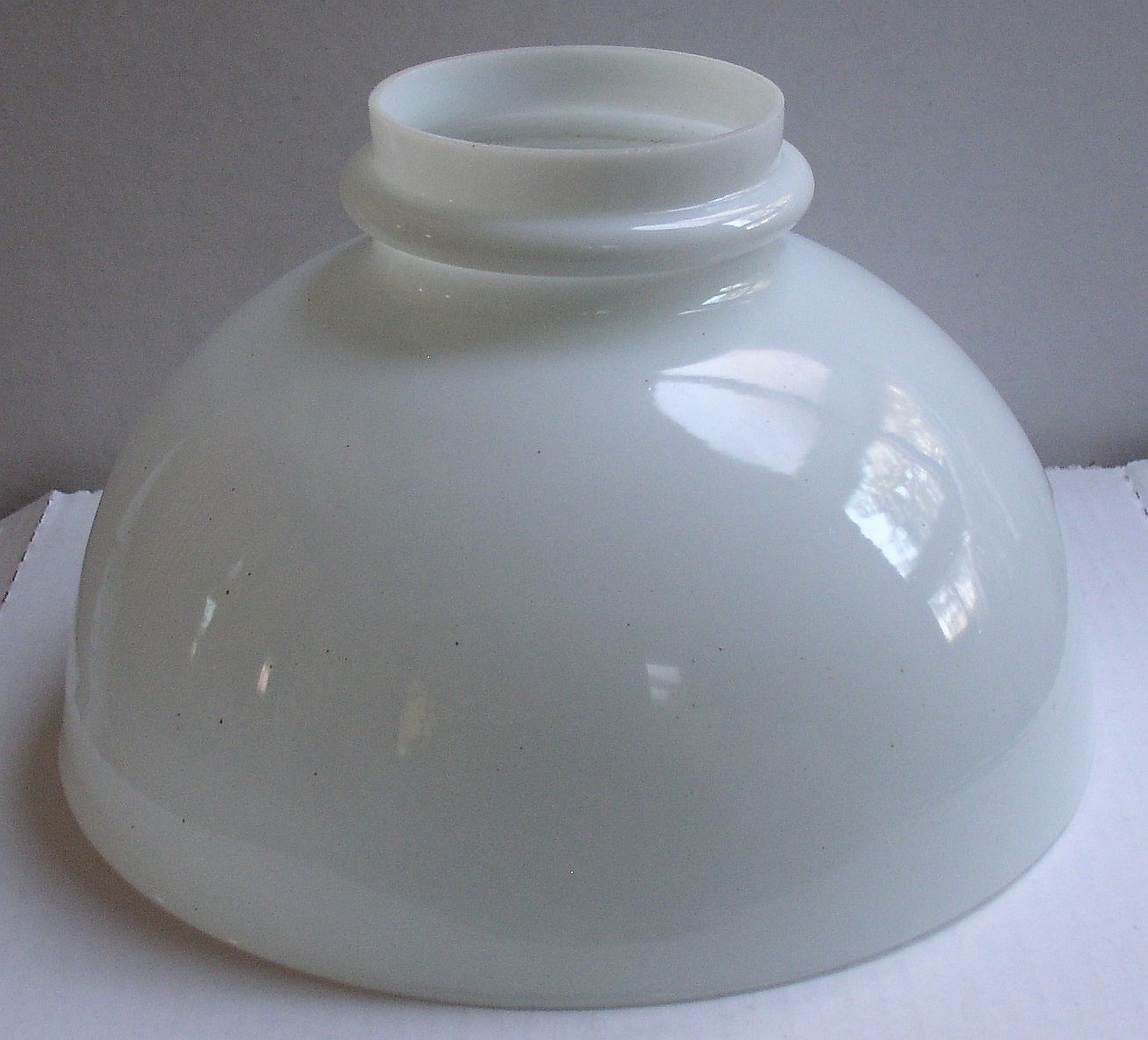 Milk glass lamp shade thingery previews postviews thoughts milk glass shade 1 aloadofball Image collections