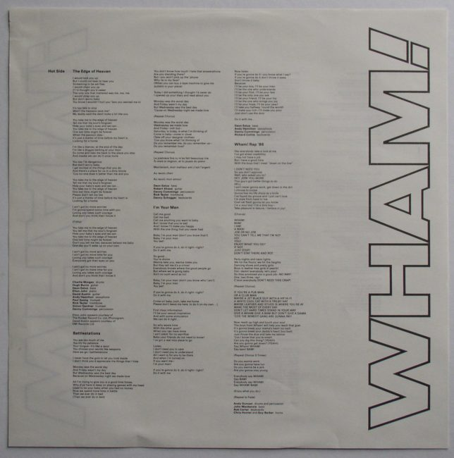 Wham LP 5