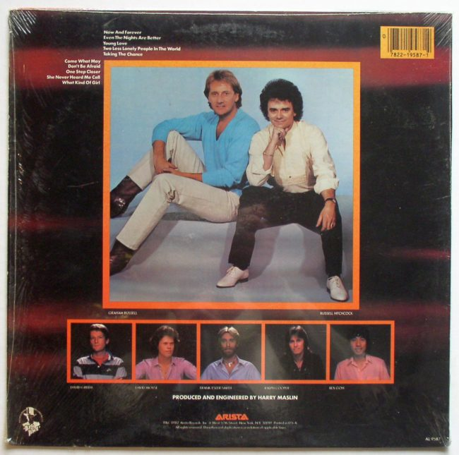 Air Supply Now And Forever LP 2