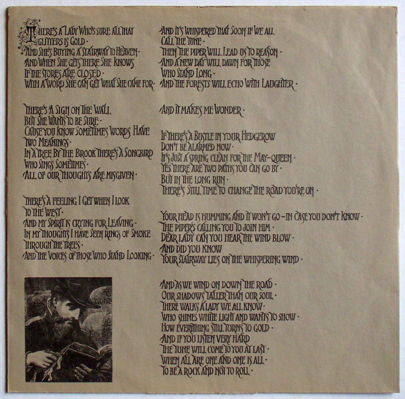 Led Zeppelin Iv Untitled Lp Vg 1971 Thingery